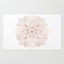 Mandala Rose Gold Flower Rug