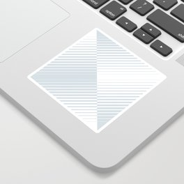 gradient stripes triangles in ice gray and white Sticker