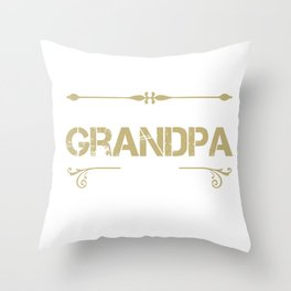 World's Best Grandpa Ever - Cool gift for G-PA Throw Pillow