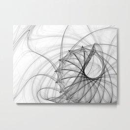 Ink Spirals and Spines Metal Print
