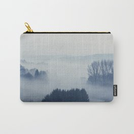 White Cover - Foggy Landscape Carry-All Pouch