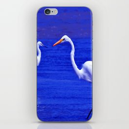 ROYAL BLUE GARZA BIRD iPhone Skin