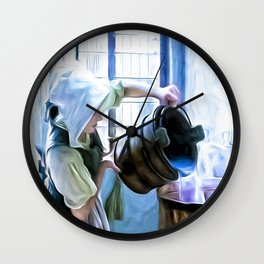 Chores of a chambermaid Wall Clock