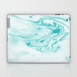 Aimi - spilled ink abstract water wave tropical vacation india ink aqua gender neutral painting boho Laptop & iPad Skin