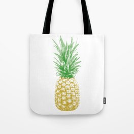 Vintage Retro Pineapple Halftone Tote Bag