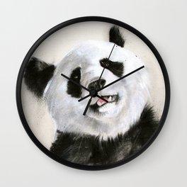 Laughing Pandas  Wall Clock