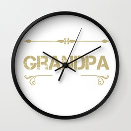 World's Best Grandpa Ever - Cool gift for G-PA Wall Clock