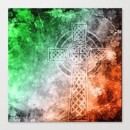 Irish Celtic Cross Canvas Print
