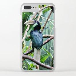 Female Hornbill Clear iPhone Case