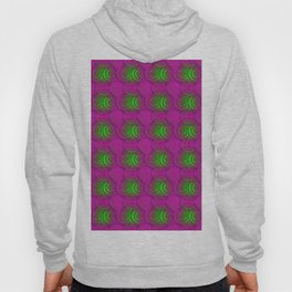Abstract gradient circles japanese pattern. Hoody