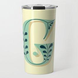 Alphabet Drop Caps Series- G Travel Mug