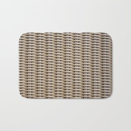 Closeup rattan wickerwork texture Bath Mat
