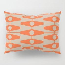 abstract eyes pattern orange tan Pillow Sham