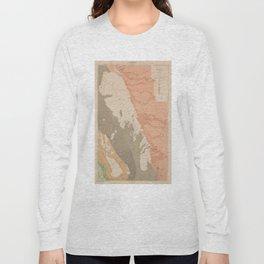 Vintage Lake Winnipeg Geological Map (1899) Long Sleeve T-shirt