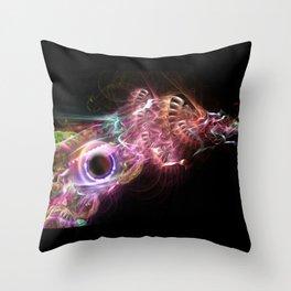 Biomech magic Throw Pillow