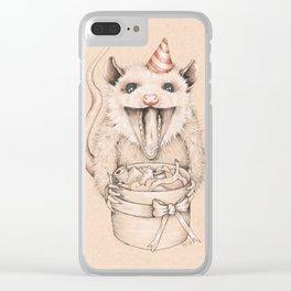 Birthday Possum's Favorite Gift Clear iPhone Case
