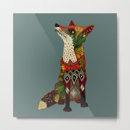 fox love Metal Print