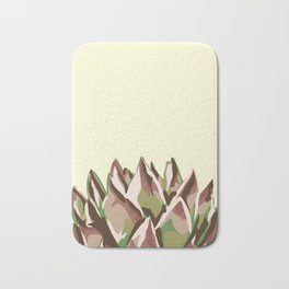 Sunshine Rosette - Yellow Wax Agave Succulent Bath Mat