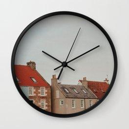 scottish fishing village Wall Clock