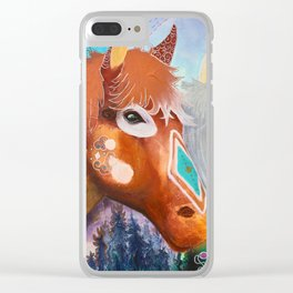 You and me - Horses - Animal - by LiliFlore Clear iPhone Case