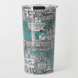 London toile blue Travel Mug