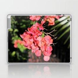 Hot Coral Floral Laptop & iPad Skin