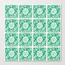 Jade Chinoiserie Tile Canvas Print