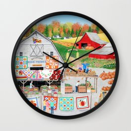 Autumn Quilts Wall Clock
