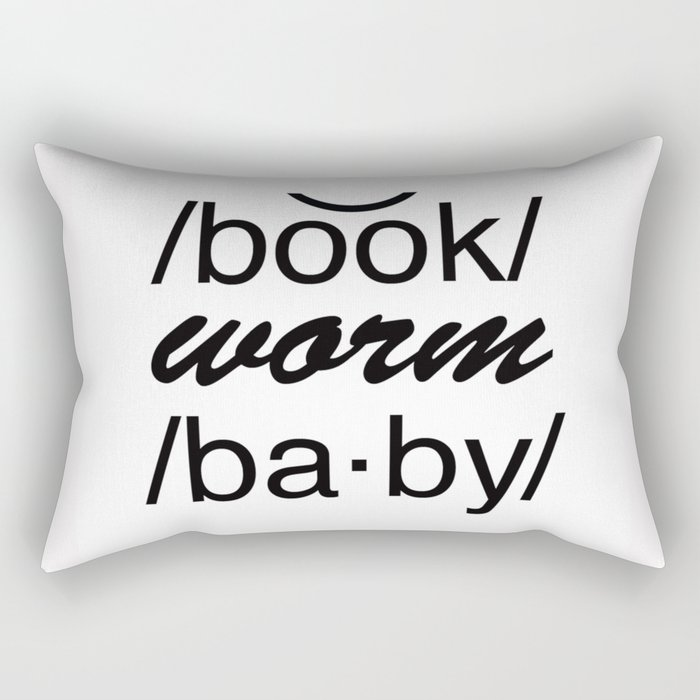 Bookworm Baby Rectangular Pillow