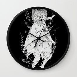 hairy bat Wall Clock