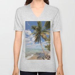 Isla Saona - Palm Tree at the Beach Unisex V-Neck