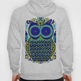 Blue Green Owl Mandala Hoody