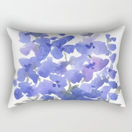Beautiful Blue Delphiniums Rectangular Pillow