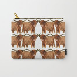 Gathering: Highland Cows Carry-All Pouch