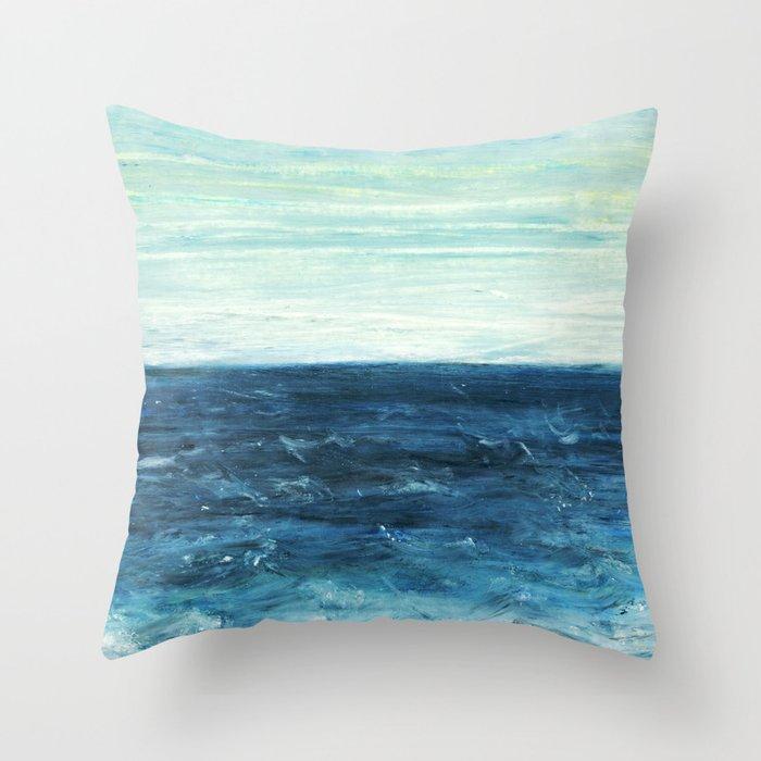 Horizon at the Baltic sea Throw Pillow