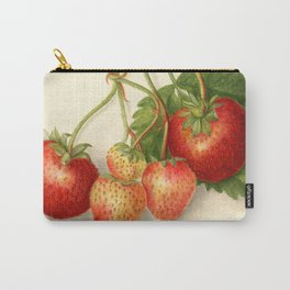 Vintage Illustration of Strawberries Carry-All Pouch