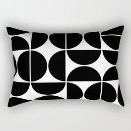 Mid Century Modern Geometric 04 Black Rectangular Pillow