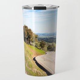 Winding road near Hearst Castle Travel Mug