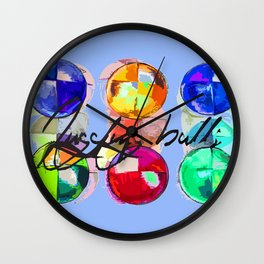 JUGGLER BEAN BALLS Wall Clock