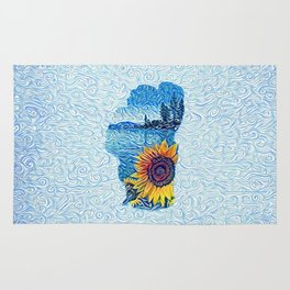 Lake Tahoe Sunflower Rug