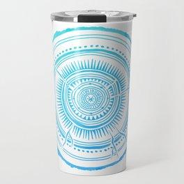 Quaking Aspen – Blue Ombré Tree Rings Travel Mug