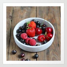 Fruits on a plate Art Print