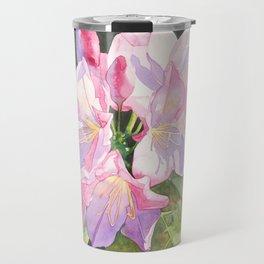 Pink Rhododendron Travel Mug