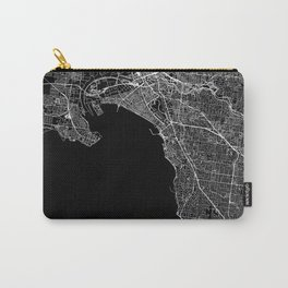 Melbourne Black Map Carry-All Pouch
