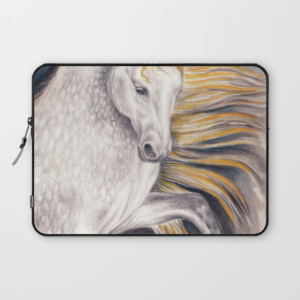 Andalusian Dapple Horse Watercolor Laptop Sleeve LSV8604922