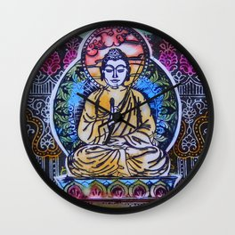 Buddha In The Garden Wall Clock
