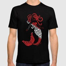 Tribal Scuba Flag Mermaid T-shirt