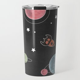 retro space pattern Travel Mug