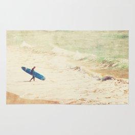 Margin Walker. surfer photograph Hermosa Beach Rug