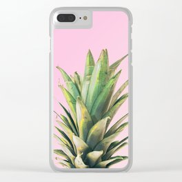 Pineapple Pink Clear iPhone Case